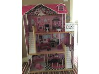 Smyths Dolls House - with furniture - excellent condition