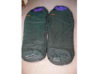 Sleeping bag, Ajungilak Kompakt Twin 100% polyester hollow fibre fill