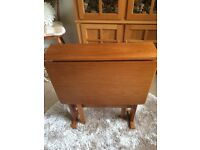Wooden drop leaf table