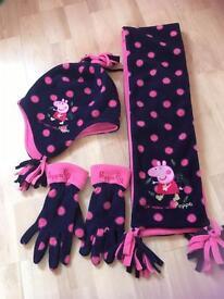 M&S Peppa Pig gloves hat & scarf set