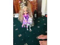 Rapunzel doll and horse in immaculate condition
