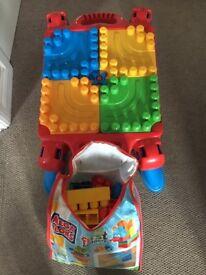 Mega blocks with table