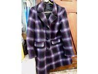 Ladies wool coat 14 M&S