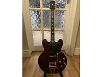 Epiphone Riveria Custom Shop P93 Electric Guitar - Wine Red (2014) - Bigsby Tremolo - Stunning