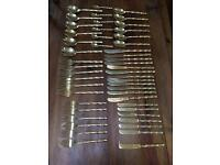 49 Piece Gold Cutlery Set