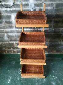 Display stand with for baskets