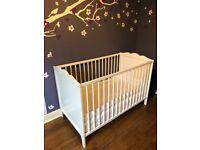Hensvik Ikea Baby Cot with mattress & bumper