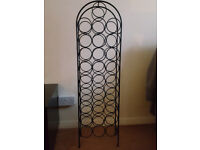 Metallic Wine Rack for 28 bottles - black