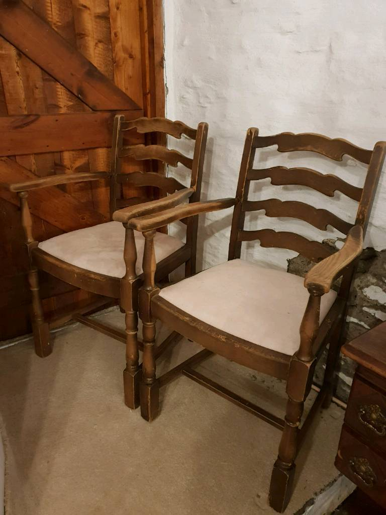 Vintage Wooden Chairs In Pontypridd Rhondda Cynon Taf