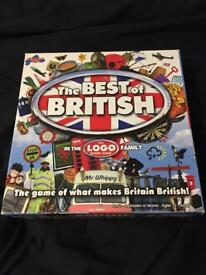 The best of British logo board game