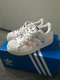 Kids Adidas superstars size 10