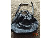 Brand new Designer Black Leather Bugle Fiorentine Bag
