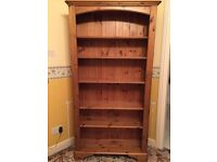 Ducal Solid Antique Pine Tall bookcase