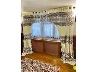Fancy Bay Window Cream Curtain L230cm ....very Wide