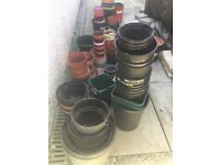 Recycled plastic plant pots, all sizes