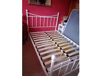 white lovely bed frame