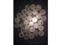 RARE COIN COLLECTION £2, 50p, 10p, 5p