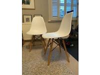Like New - White Eames Chairs X2