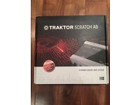 Traktor Scratch A6 Audio 6 complete box with all hardware and transfer code