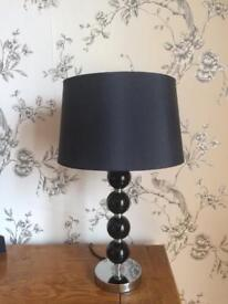 Black and chrome lampshade