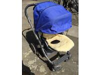Babystyle Oyster Pushchair With Carry Cot and Buggy Board
