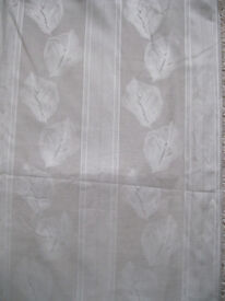 """Grey patterned Curtains with pelmet/valance. 66""""w x 54"""" drop"""