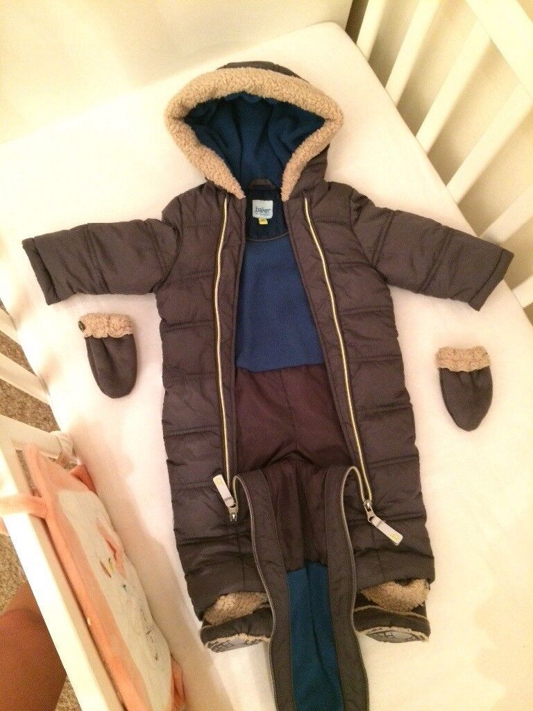 TED BAKER BABY BOY SNOWSUIT IN GREY COLOR! Excellent condition! 3-6 months