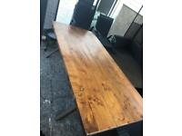 Hard oak table 6ft x 3ft -ONE OF A KIND!