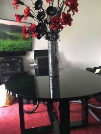 Brand new high black gloss dinning table