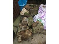 15 - 20 rocks FREE perfect for rockery