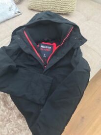 Holister navy hooded water proof size Smallas new condition