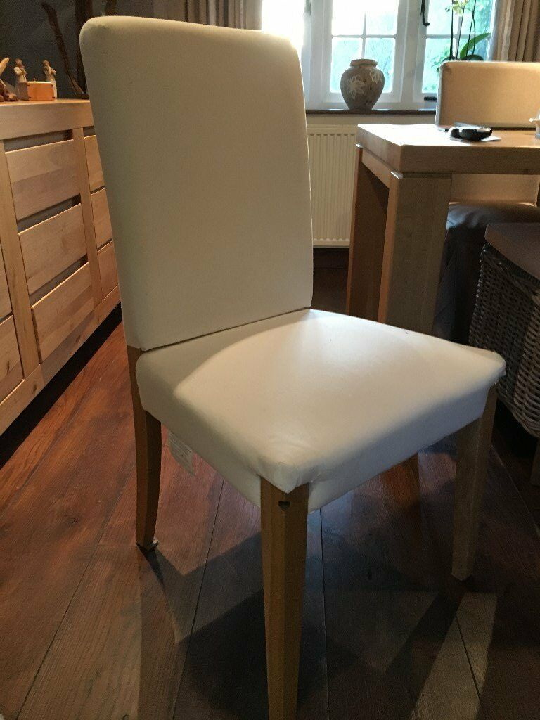Dining Room Chairs X 6 Have Plain Linen Covers For All If Required