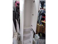 Tall Bathroom Cabinet in Gloss White