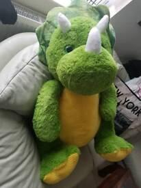huge green and yellow dinosaur NEW