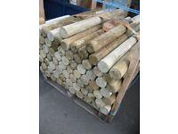 Round Wooden Posts Between 1 Meter > 1.2 Meters. Only £3 Each!