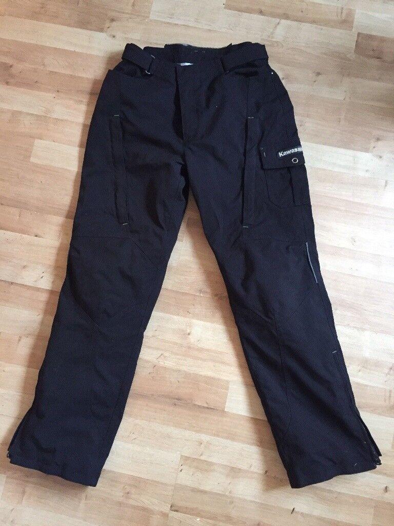 Kawasaki Motorcycle Trousers - Black - Large - RRP£142.95