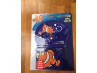 Swimming cap, goggles and bag