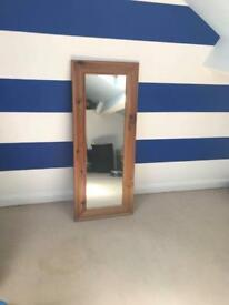 Mirror with timber surround
