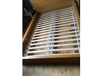 Ikea Malm Double Bed Oak Veneer, bed only