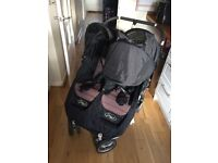 Baby city mini jogger double pushchair buggy