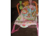 Fisher-Price Infant-to-Toddler Rocker in Pink Bunnies