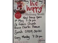 slimming world new group starts 1st May 7.30 pm St Francis Church Mackworth