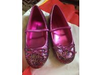 Girls glittery shoes size 1