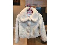 NEXT fake fur jacket. Aged 7-8 girls.