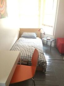 Cosy single room in friendly family home. Central location near to station and town centre.