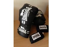 Boxing gloves + Strips (hand wraps)
