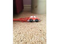 Curtain pole red car design little boys room accessories