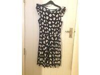 Black Flower Dress Size 12