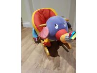 Mamas and Papas rocking elephant, with sensory sounds and textures. Great present for little ones