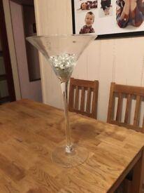 Lovely large decorative glass martini/cocktail vase/ornament